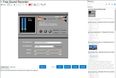 Free Sound Recorder - Flamory bookmarks and screenshots