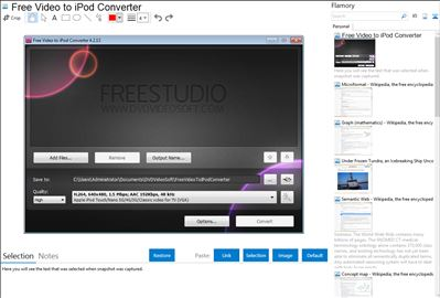 Free Video to iPod Converter - Flamory bookmarks and screenshots