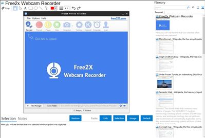 Free2x Webcam Recorder - Flamory bookmarks and screenshots