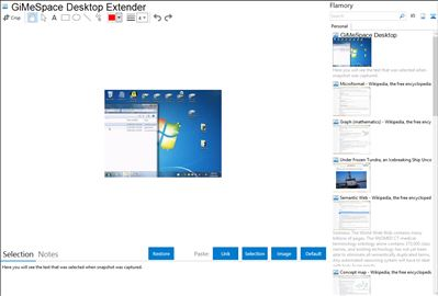 GiMeSpace Desktop Extender - Flamory bookmarks and screenshots