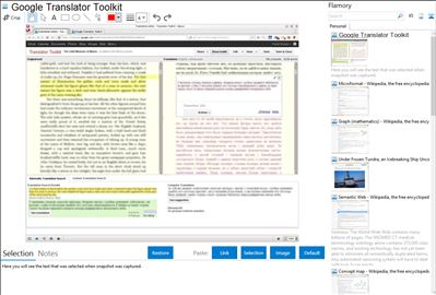 Google Translator Toolkit - Flamory bookmarks and screenshots