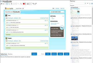 HootSuite - Flamory bookmarks and screenshots
