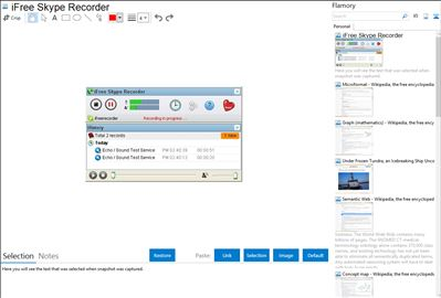 iFree Skype Recorder - Flamory bookmarks and screenshots
