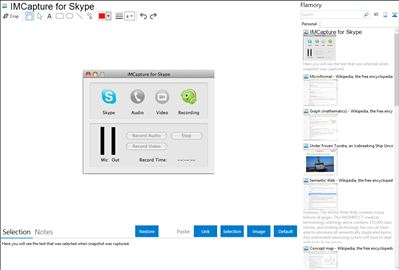 IMCapture for Skype - Flamory bookmarks and screenshots