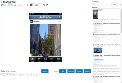 Instagram - Flamory bookmarks and screenshots