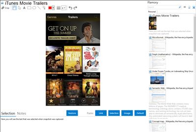 iTunes Movie Trailers - Flamory bookmarks and screenshots