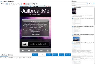 JailbreakMe - Flamory bookmarks and screenshots