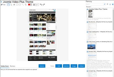 Joomla Video Plus Theme - Flamory bookmarks and screenshots
