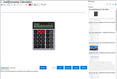 JustBrowsing Calculator - Flamory bookmarks and screenshots