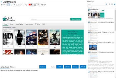 JustMoviez - Flamory bookmarks and screenshots