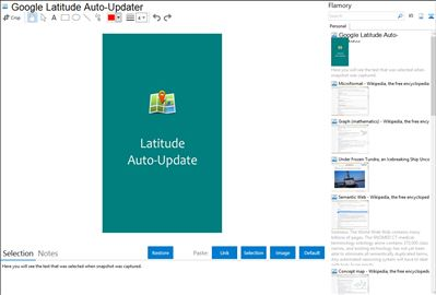 Google Latitude Auto-Updater - Flamory bookmarks and screenshots