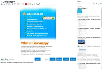 LinkSnappy - Flamory bookmarks and screenshots