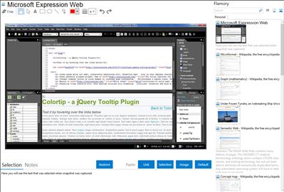 Microsoft Expression Web - Flamory bookmarks and screenshots
