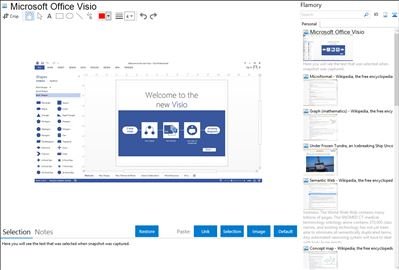 Microsoft Office Visio - Flamory bookmarks and screenshots