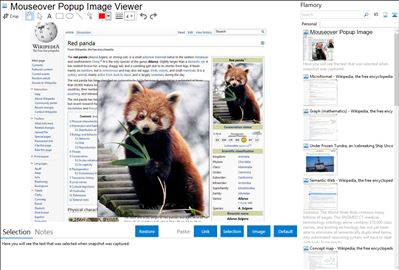 Mouseover Popup Image Viewer - Flamory bookmarks and screenshots