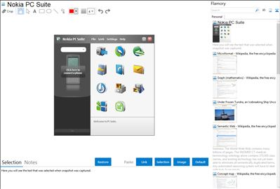 Nokia PC Suite - Flamory bookmarks and screenshots