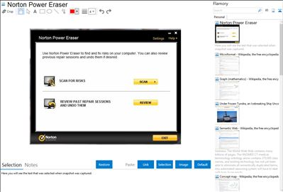 Norton Power Eraser - Flamory bookmarks and screenshots