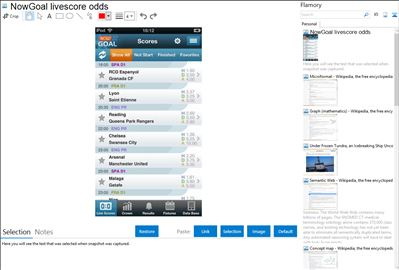 NowGoal livescore odds - Flamory bookmarks and screenshots
