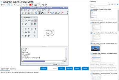 Apache OpenOffice Math - Flamory bookmarks and screenshots