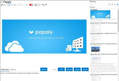Papaly - Flamory bookmarks and screenshots