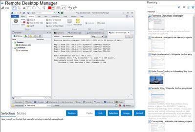 Remote Desktop Manager - Flamory bookmarks and screenshots