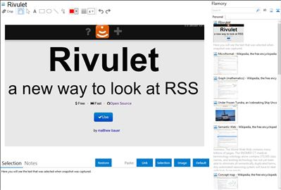 Rivulet - Flamory bookmarks and screenshots