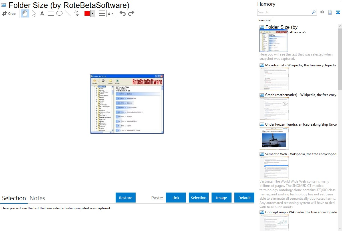 rotebetasoftware foldersize