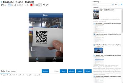 Scan (QR Code Reader) - Flamory bookmarks and screenshots