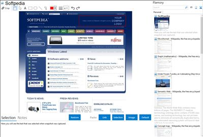 Softpedia - Flamory bookmarks and screenshots