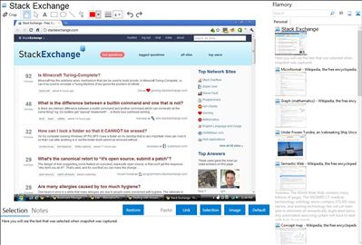 Stack Exchange - Flamory bookmarks and screenshots