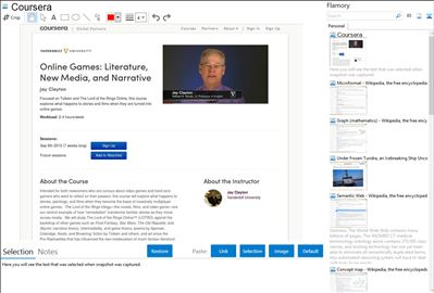 Coursera - Flamory bookmarks and screenshots