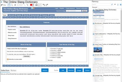 The Online Slang Dictionary - Flamory bookmarks and screenshots