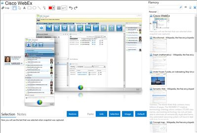 Cisco WebEx - Flamory bookmarks and screenshots