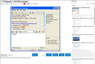 Winpopup LAN Messenger - Flamory bookmarks and screenshots