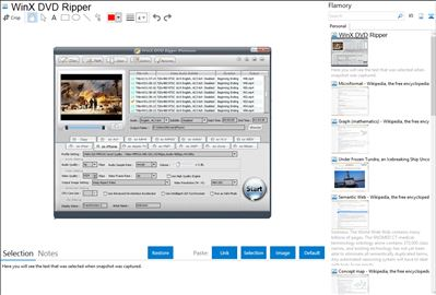 WinX DVD Ripper - Flamory bookmarks and screenshots
