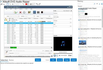 Xilisoft DVD Audio Ripper - Flamory bookmarks and screenshots