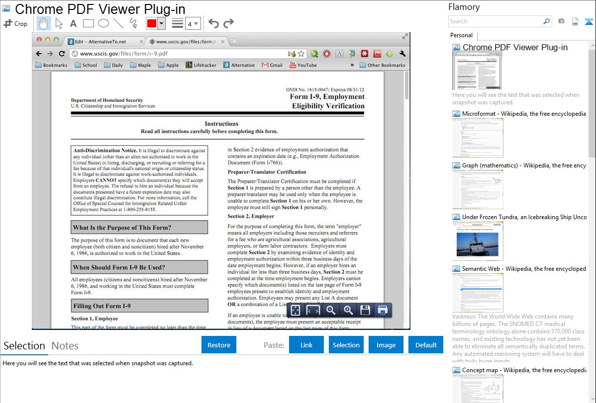 Chrome PDF Viewer Plug-in integration with Flamory