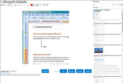 Microsoft OneNote - Flamory bookmarks and screenshots
